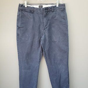 J. Crew Flannel Lined Pants Size 31 x 28 Blue